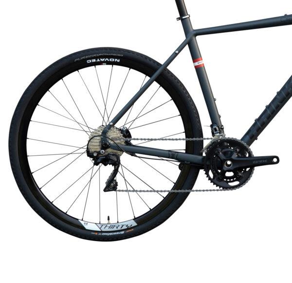 Aries Gravel Bike von Hrinkow Hinterrad Ansicht